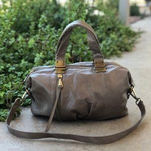 HOBO Intl Derby Leather Satchel Medium Bag in Ash